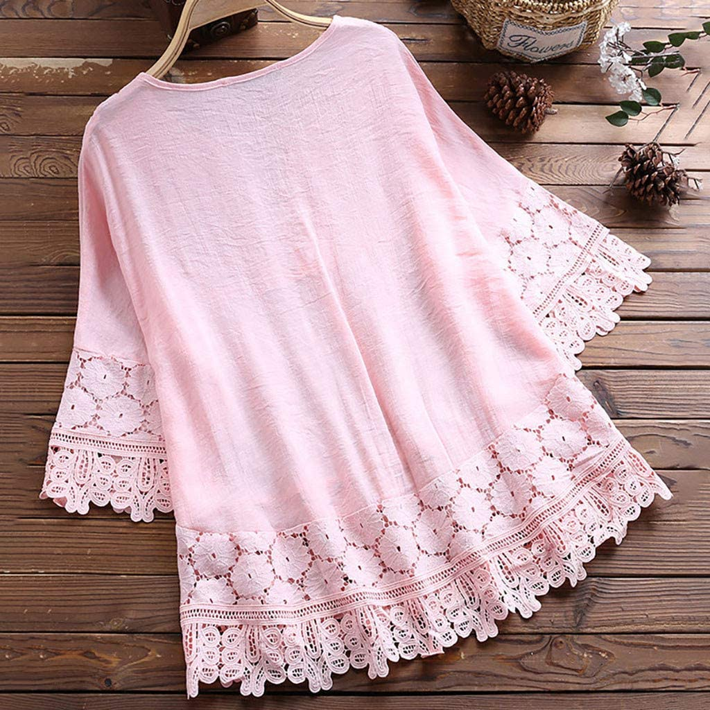 Winsummer Plus Size Swing Lace Flowy Tank Top for Women Summer Sleeveless Casual Loose Tops Blouse