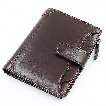 db1159639a88 NHGY Men's Leather Wallet, Belt Buckle, Short Soft Noodles, Zero ...