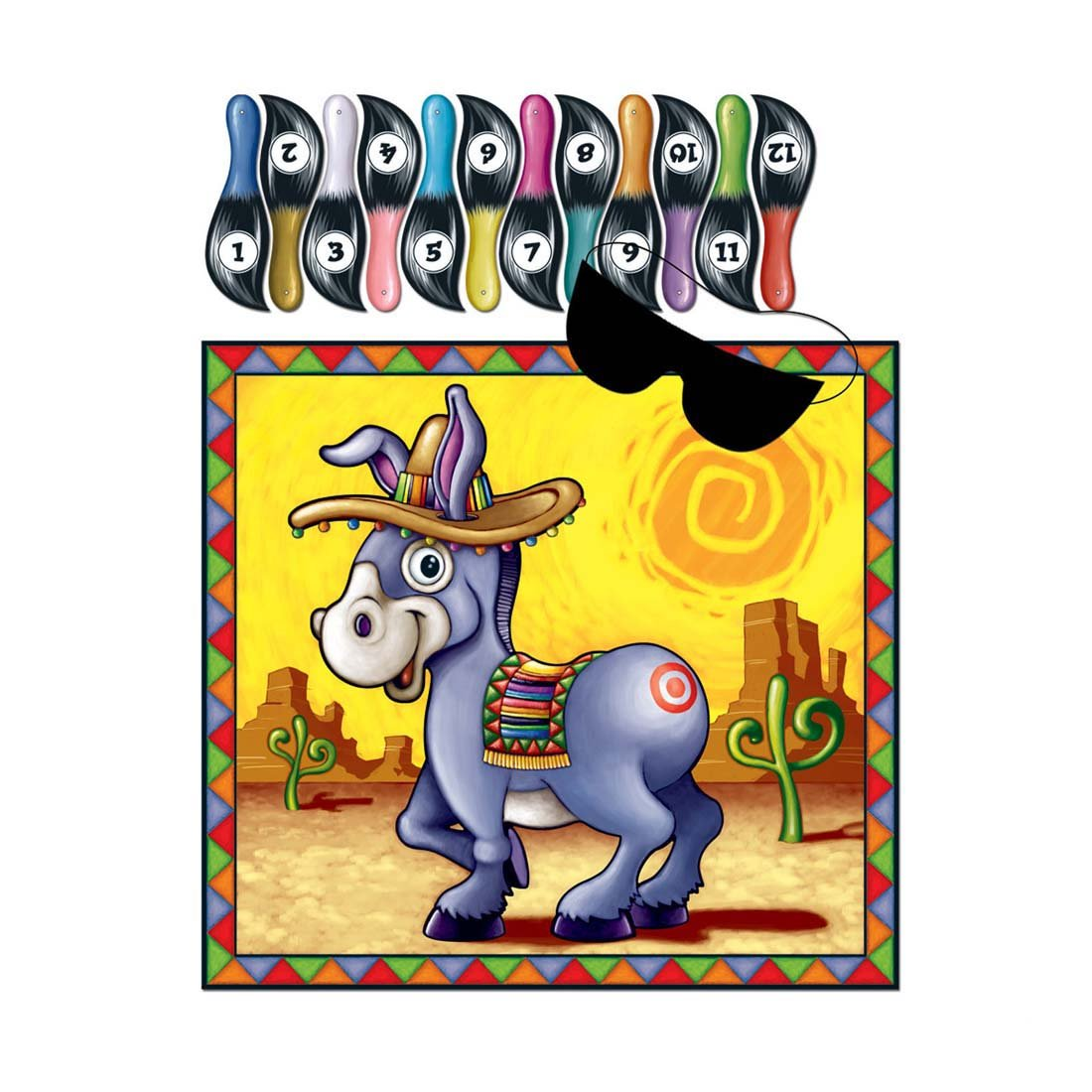 1 Everyday Birthday Party Game PIN THE TAIL ON THE DONKEY for 12 Guests