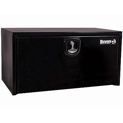 Buyers Products Black Steel Underbody Truck Box w/ 3-Point Latch (24x24x24 Inch): Automotive