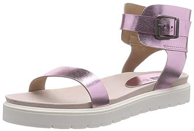 313002, Damen Römersandalen Sandalen, Pink (Pink), 37 EU (4 Damen UK) P1 Footwear