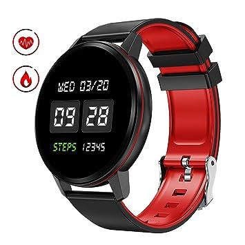 Smartwatch Mujer Hombre, Pulsera Actividad con Pantalla Completa ...