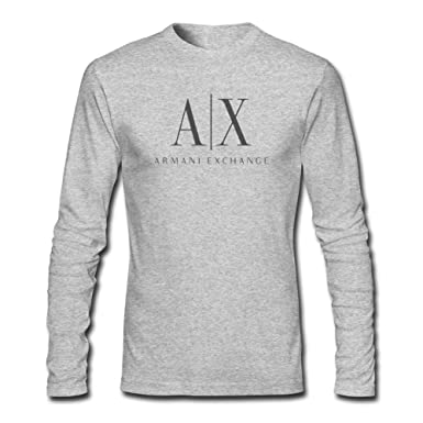 3fc64a56b0c4 Armani Exchange Logo For 2016 Mens Printed Long Sleeve tops t shirts  Amazon .co.uk  Clothing