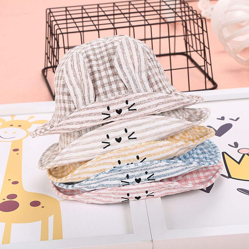 Censhaorme Preciosa del o/ído de Dibujos Animados Infantiles para beb/és reci/én Nacidos Las Gorras de Ni/ños Ni/ñas Sun Beach Casquillo del beb/é del Verano al Aire Libre del Sombrero del Cubo