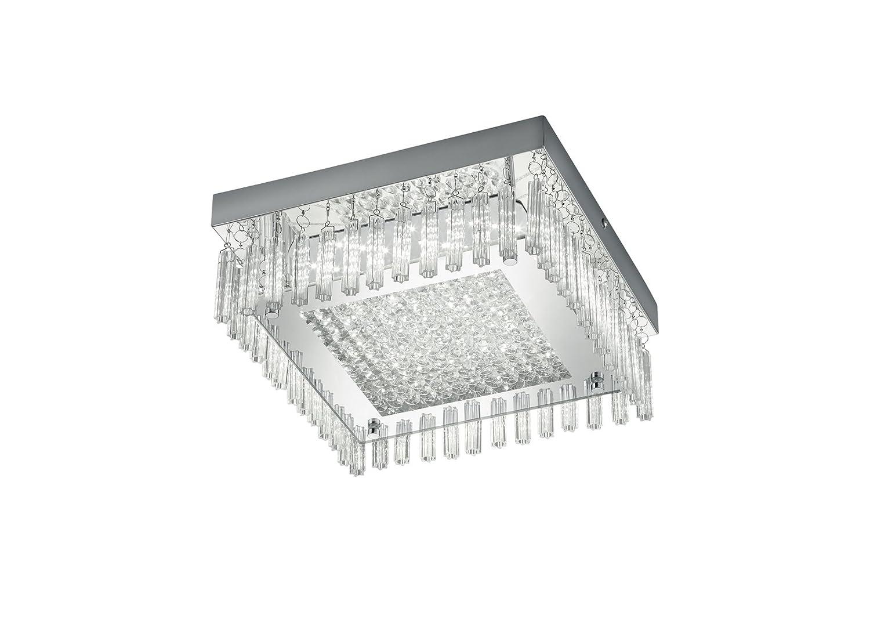 Reality Leuchten R62391206 Saphir A+, LED Deckenleuchte, Metall, 12 watts, Integriert, Chrom, 28 x 28 x 11 cm