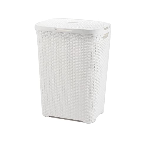 Ehc Slimline Laundry Linen Basket Bin Bathroom Storage
