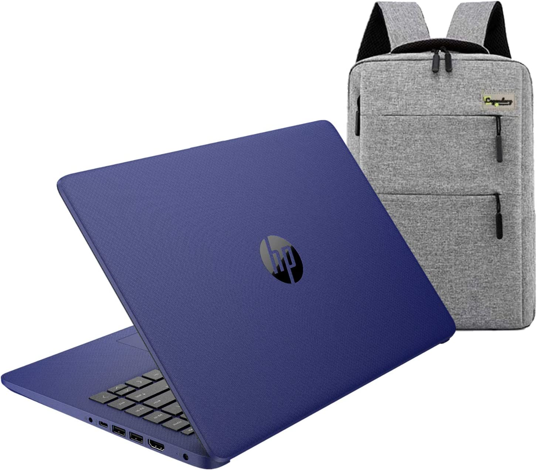 2020 HP 14 inch HD Laptop, Intel Celeron N4020 up to 2.8 GHz, 4GB DDR4, 64GB eMMC Storage, WiFi 5, WebCam, HDMI, Windows 10 S /Legendary Accessories (Google Classroom or Zoom Compatible) (Indigo Blue)