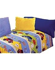 Juego de sábanas estampado Coches (SPEEDY, para cama de 90x190/200)