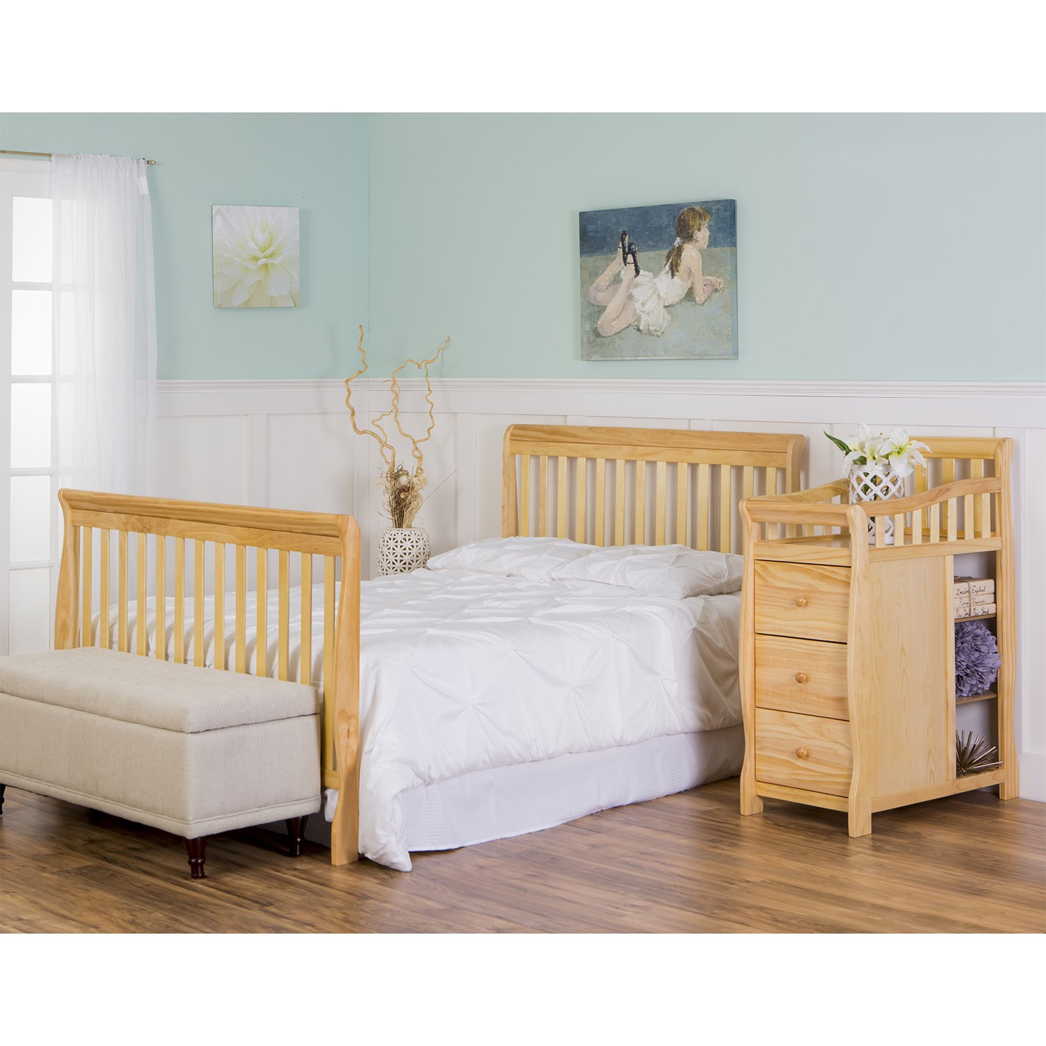 Dream On Me 5 in 1 Brody Convertible Crib with Changer, Natural by Dream On Me (Image #7)