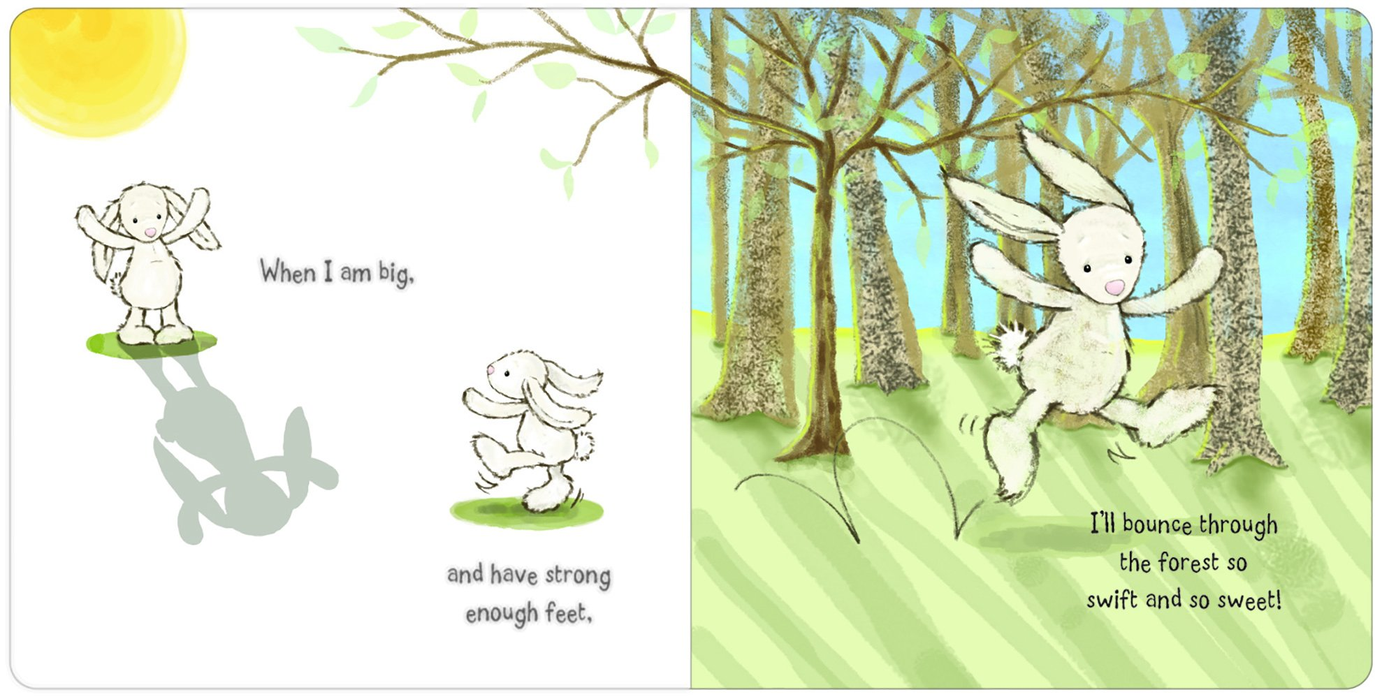Jellycat When I Am Big Board Book and Bashful Cream Bunny, Medium - 12 inches by Jellycat (Image #3)