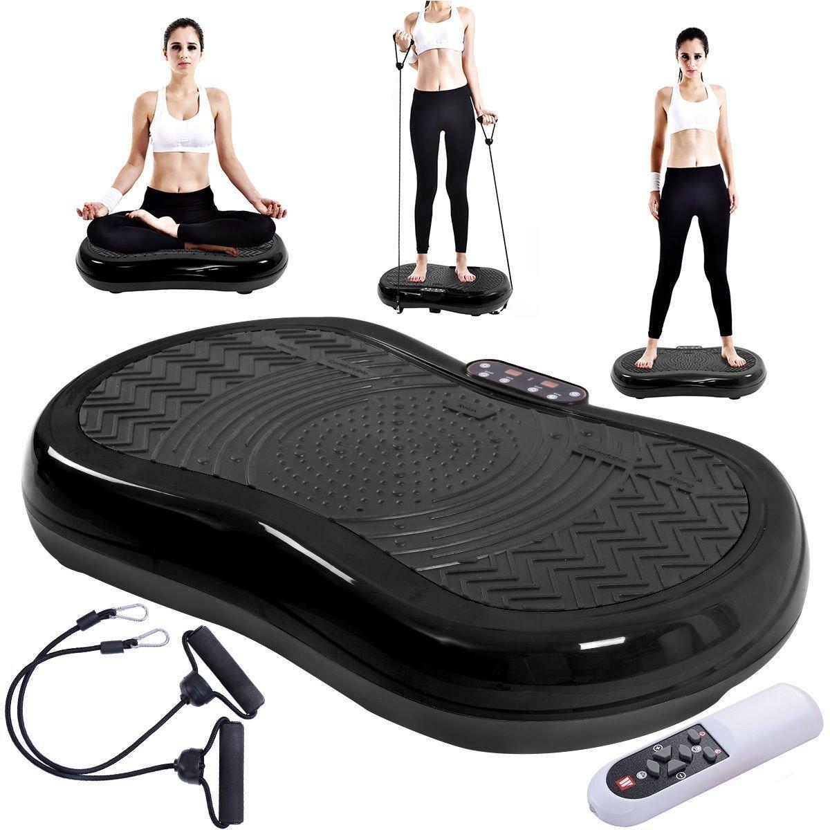 Tangkula Ultrathin Mini Crazy Fit Vibration Platform Massage Machine Fitness Gym (Black) by Tangkula (Image #3)