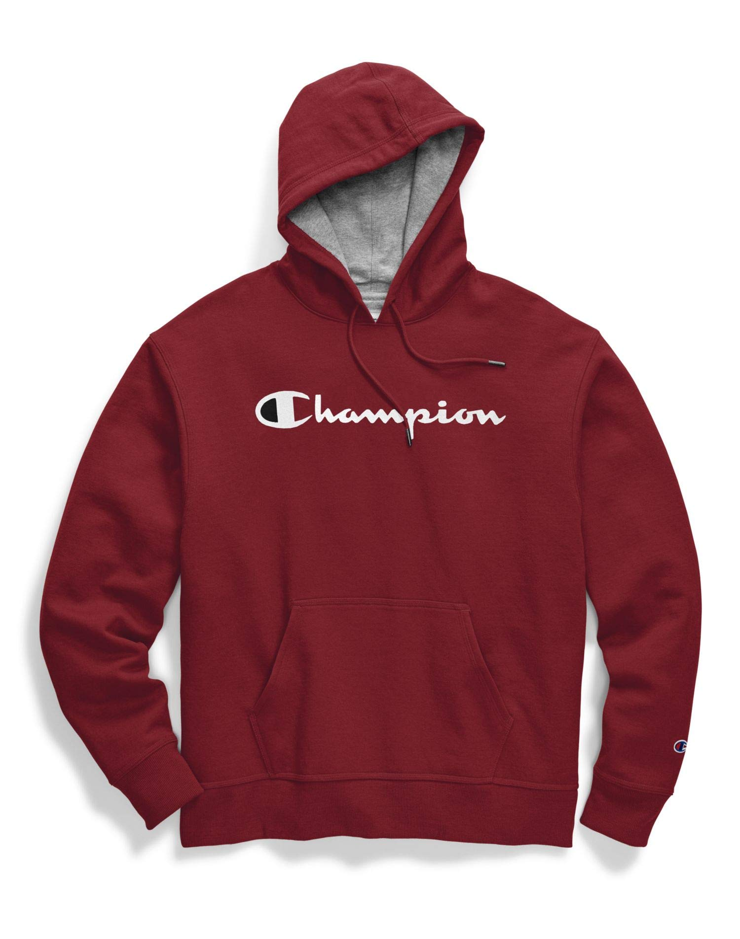 Champion Powerblend Fleece Pullover Hoodie Script Logo (GF89H Y07718) -Cherry Pie -M by Champion