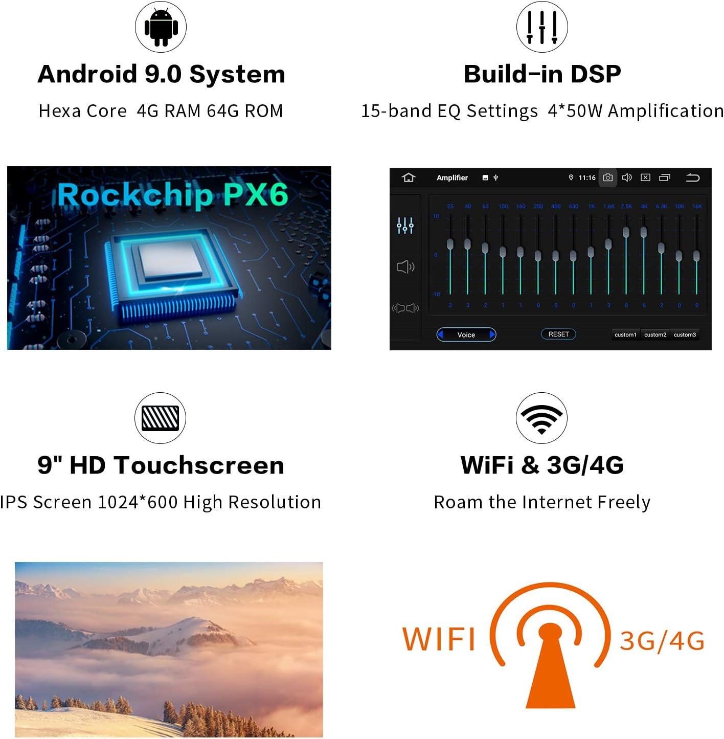 "Dasaita Android 9.0 Car Radio Audio Stereo for Nissan X-Trail Qashqai 2014-2017 Bluetooth GPS Navigation Head Unit Car Vehicle Music Video Player Multimedia 10.2\"" Touchscreen Hexa Core 4G+64G 61fhaIIRa5LSL1500_"