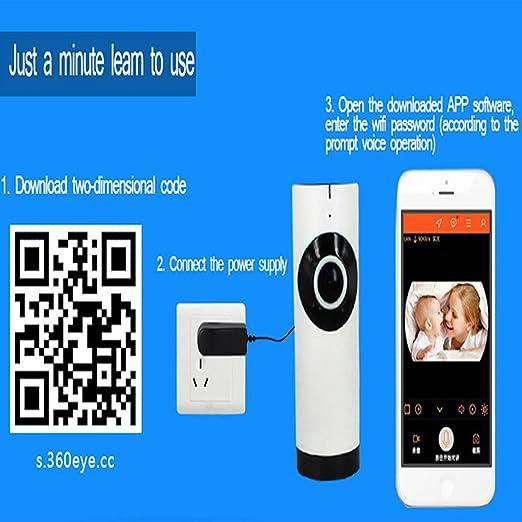 DongAshley Cámara De Vigilancia Hd IP Video De Alarma Cámara De Vigilancia IP Mando A Distancia Del Teléfono Móvil Vision Nocturna Wifi Inalámbrico: ...