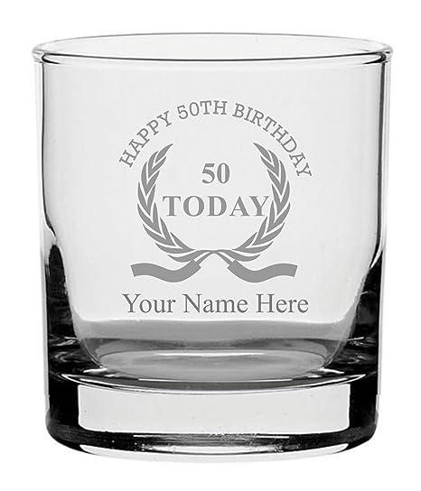 County Engraving - Vaso de Whisky con diseño de corona de 50 ...