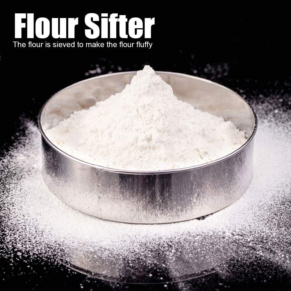 6Pcs Stainless Steel Fine Flour Sifter Strainer Sieve Powdered Sugar Filter Mesh Baking Accessories Kitchen Supplies