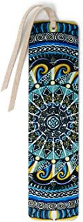product image for Guardian of Water - Large - Painting by Gaia Woolf-Nightingall - Wooden Bookmark with Suede Tassel