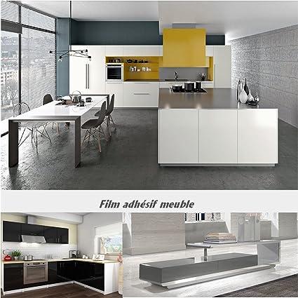 Film adhésif Top qualité PVC pour recouvrement de Meuble Cuisine et Salle  de Bain Facile à Installer différentes Dimensions (Largeur 075 cm x  Longueur ...