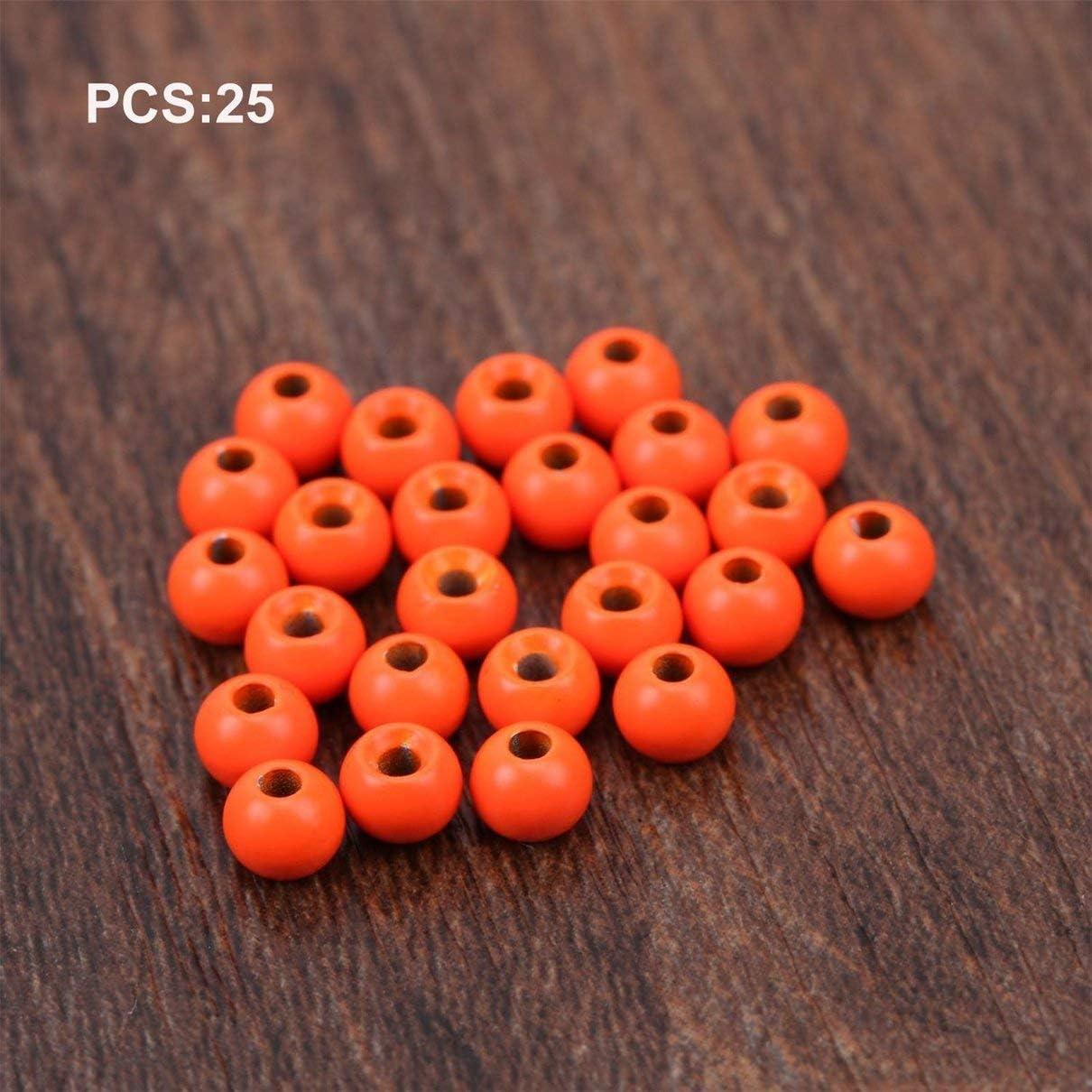 fghfhfgjdfj 25 Piezas Cuentas de Atado de Moscas Cuentas de tungsteno Bola de Cabeza de NINFA 2//2.4//2.8//3.3//3.8//4.6mm