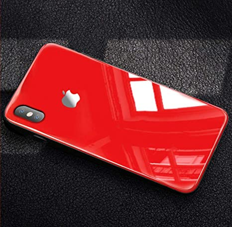 MOB_AC Luxury Glass Back Case for iPhone XR (Red)