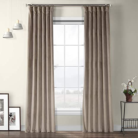 IndoorOutdoor Two  96 x 50  Custom Curtain Panels Blue Beige Taupe Pom Pom Play Large Floral