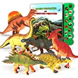 OleFun Dinosaur Toys for 3 Years Old & Up - Dinosaur Sound Book & 12 Realistic Looking Dinosaurs Figures Including T-Rex…