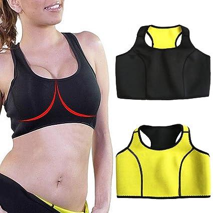 e8c3122cf2 CFR Women s Sport Workout Thermo Neoprene Bra Sweat Sauna Suit Body Shaper  Black