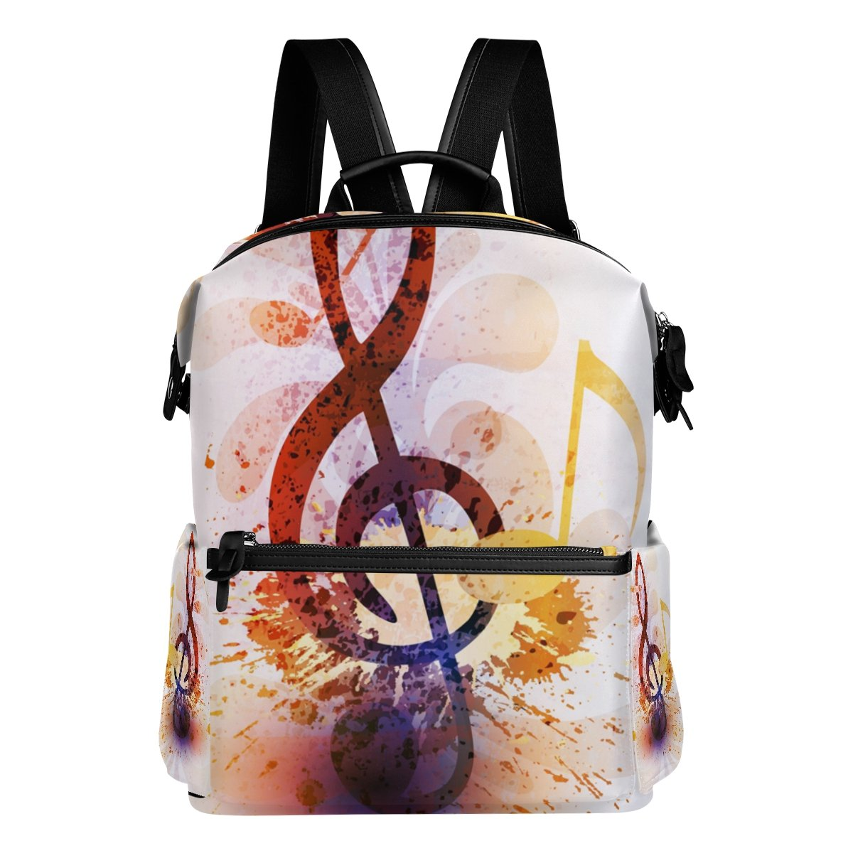 COOSUN Zaino da viaggio Abstract Music Note Scuola Zaino Multi