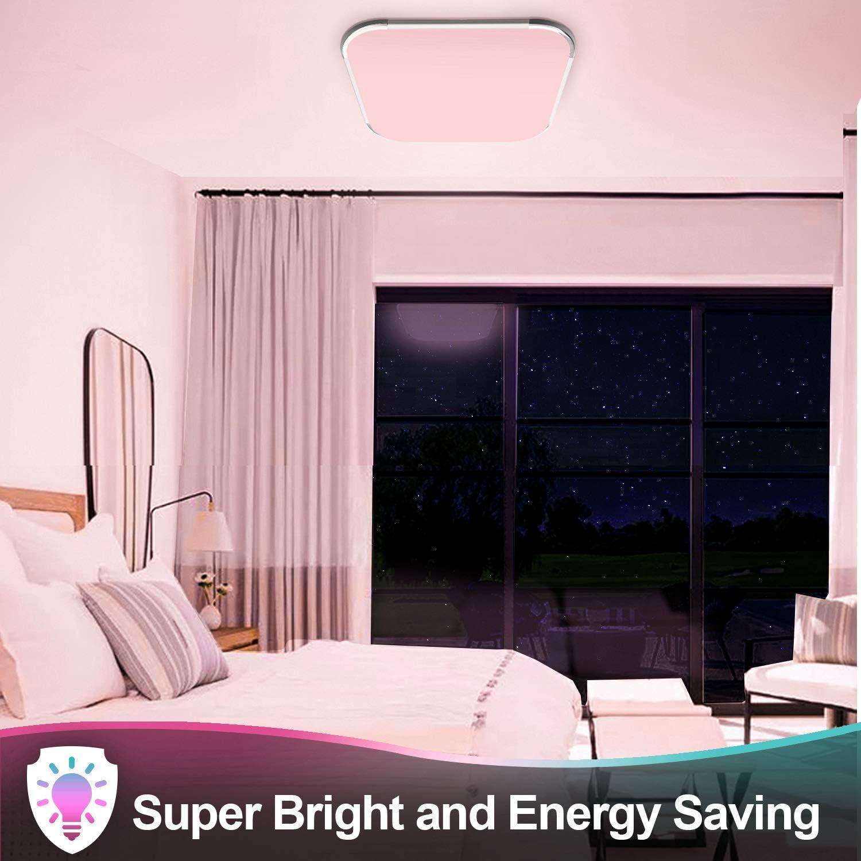Hengda RGB LED Deckenleuchte Dimmbar, 48W 4320LM Deckenlampe, IP44 Schutzart, Wohnzimmerlampe Schlafzimmerlampe Kinderzimmerlampe, Flimmerfrei und Blendfrei Innenleuchte 36w Rgb