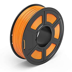 TECBEARS PETG 3D Printer Filament 1.75mm Orange, Dimensional Accuracy +/- 0.02 mm, 1 Kg Spool, Pack of 1