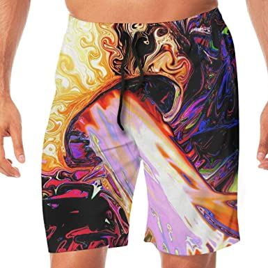 Tydo Purple Blue Swirls Mens Beach Shorts Casual Surfing Trunks Surf Board Pants With Pockets For Men