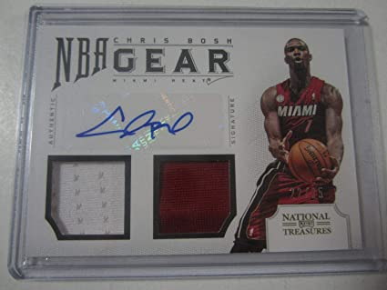 4a023e6154a Chris Bosh 2012-13 Panini National Treasures Autographed Double ...