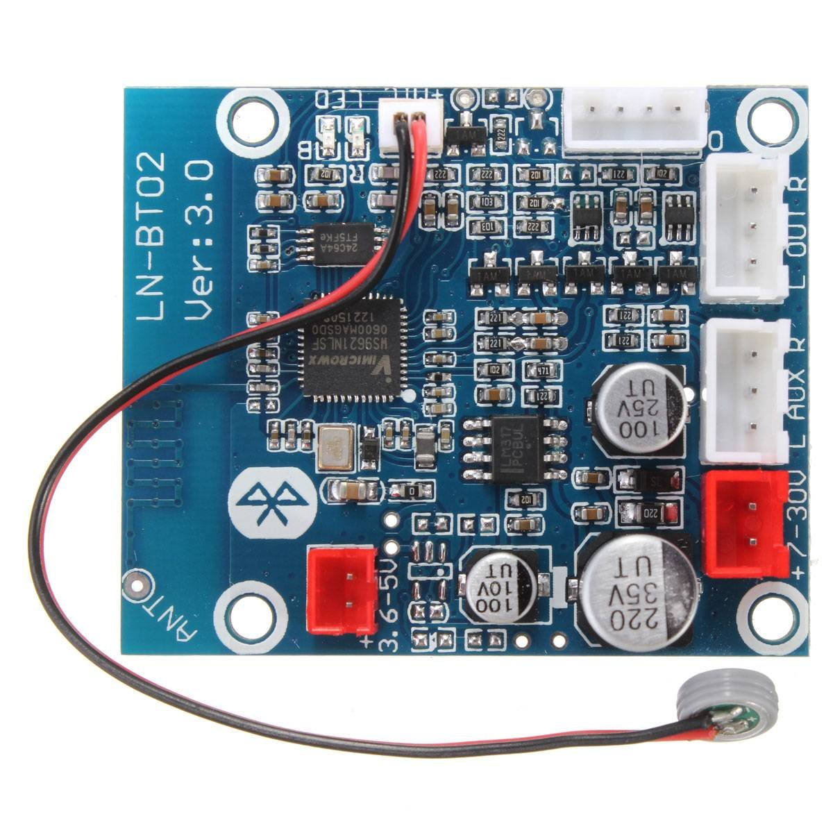 Bluetooth 4.0 Audio Receiver Board Wireless Stereo Sound Module for Car Phone