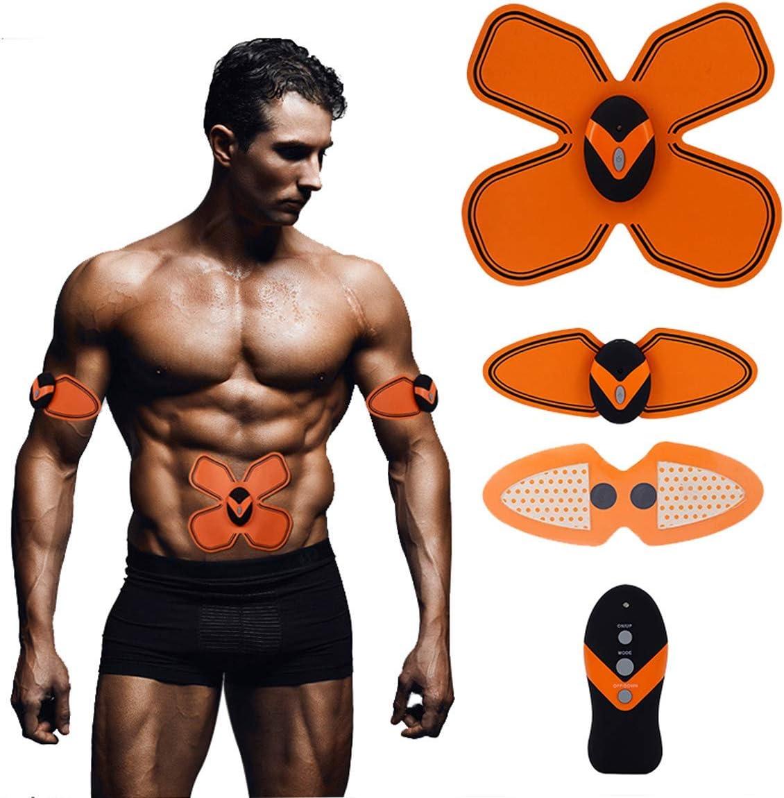 MASOMRUN Muskelstimulator Bauchmuskeltrainer mit 6 Modi /& 10 Intensit/äten Bauchmuskeltrainer Muskeltrainer f/ür M/änner /& Frauen Hilfe beim Abnehmen Muskelaufbau und Figurformung