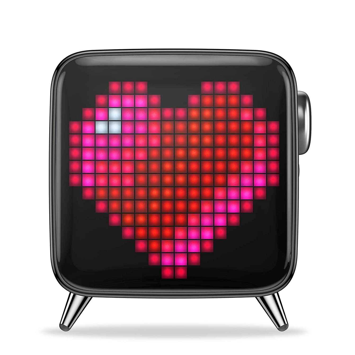 Divoom Tivoo Max Smart Portable Bluetooth LED Speaker with APP-Controlled Pixel Art Animation, Notification and Build- in Clock/Alarm, 6.42 7.263.39 ...
