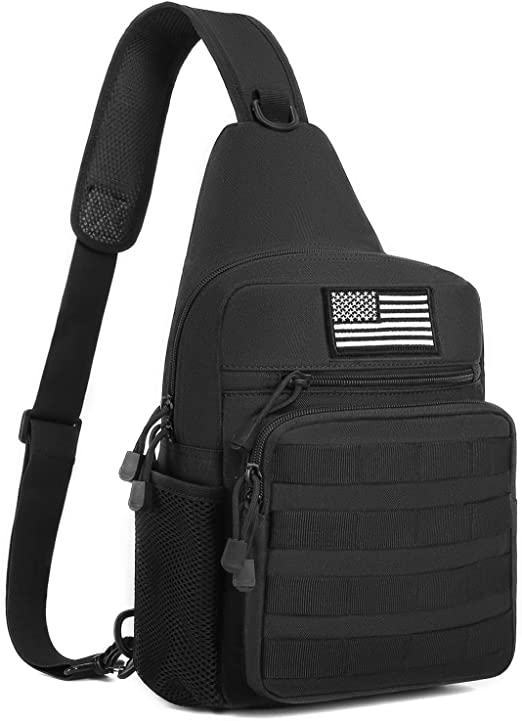 Men Backpack Molle Tactical Sling Chest Shoulder Bag Waist Pack Bag Outdoor USA
