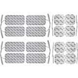 16 x Elektroden Pads, 8*10x5cm + 8*5x5cm. Selbstklebend, für TENS Gerät Reizstromgerät mit 2mm-Anschluss