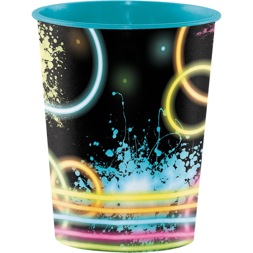 Creative Converting 12-Count Plastic Keepsake Cups, Glow Party by Creative Converting