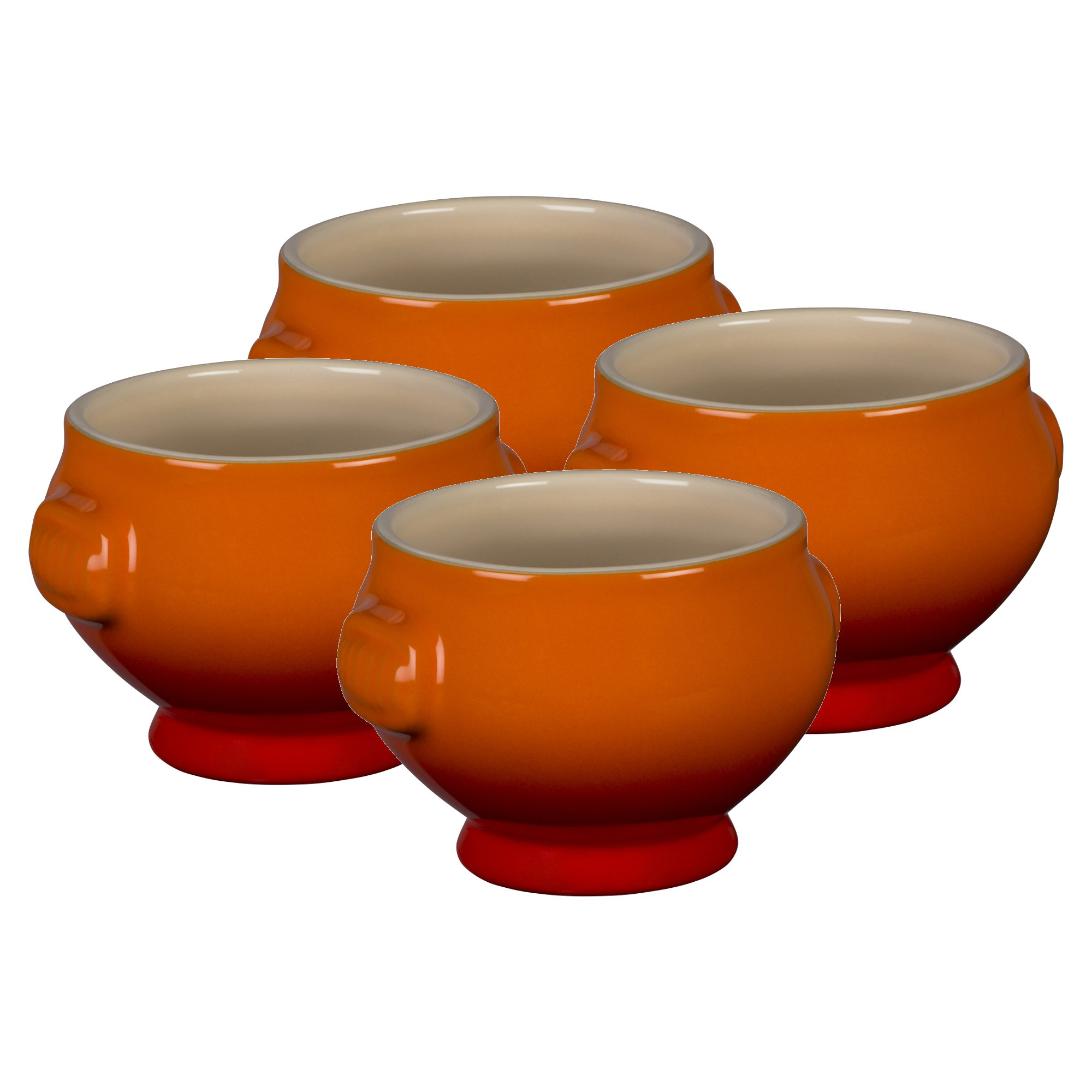 Le Creuset Heritage Flame Stoneware 20 Ounce Soup Bowl, Set of 4