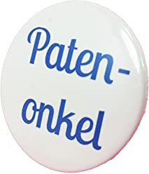 Patenonkel Button - Taufe Anstecker Babyshower Mama Geschenk Geburt Birth Baby Boy Girl 3,8 cm JGA