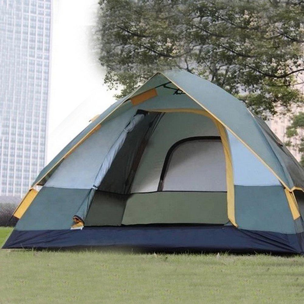 QB-tent Campingzelt Outdoor-Multi-Person-Double-Layer-Zelt 3-4 Personen mit Anti-Riot-Zelt