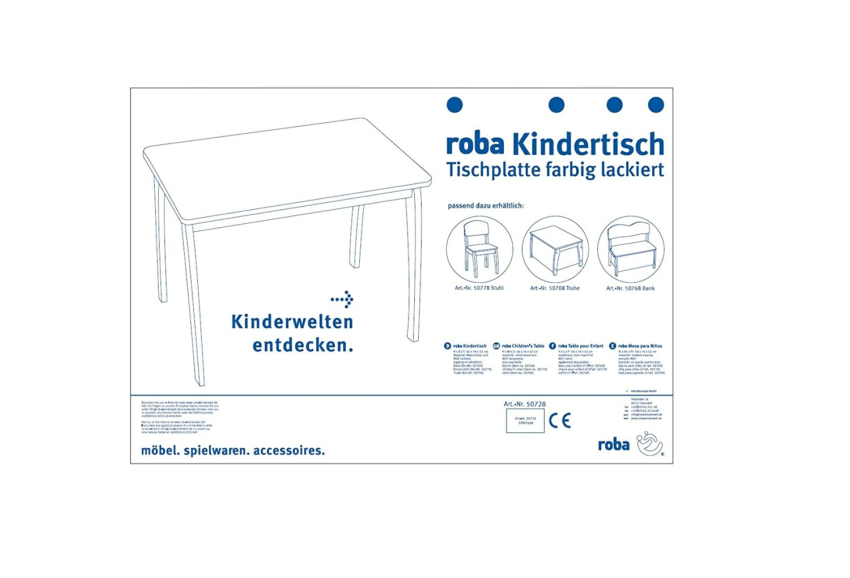 roba Baumann Gmbh 52 x 56 x 76 cm Child'S Table (Red Top) B000TQCB66