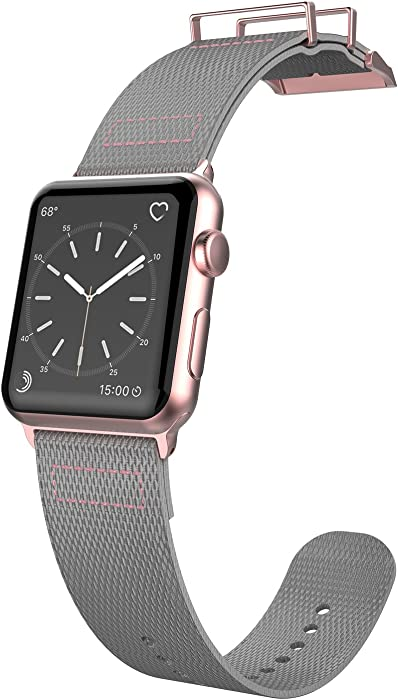 38mm Apple Watch Replacement Band, X-Doria Field Series - Compatible with Apple Watch Series 1, Series 2, Series 3 and Nike+, [Gray/Rose]