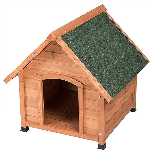 EUGAD Caseta de Madera Maciza para Perros Casa para Perro Animal Pequeño Casetas de Perros para Jardín Impermeable 76x76x72 cm 0004TL: Amazon.es: Productos para mascotas