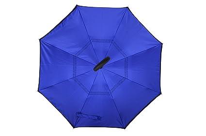 Amazon.com : C Umbrella Inverted Reverse Folding Umbrella Windproof Double Layer Rain Umbrella Sun Umbrella For Women Outdoor with Umbrella Sets (blue) ...