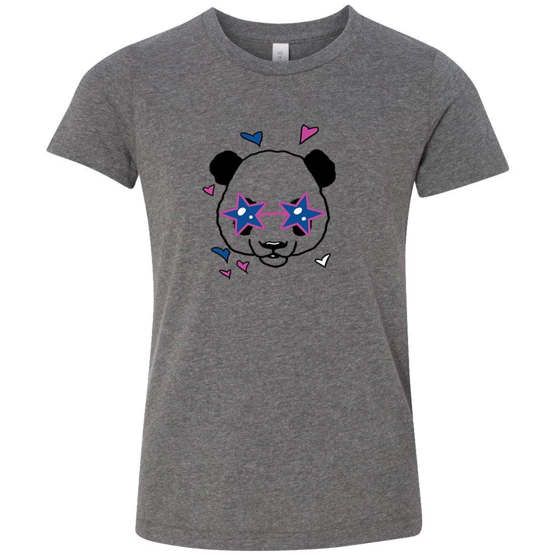 Cute Panda Star Glasses Premium Youth T-Shirt/tee - Deep Heather Small
