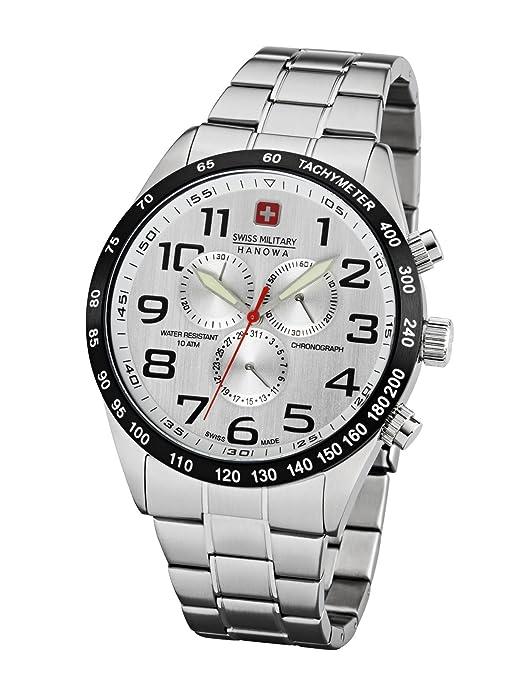 Swiss Military Hanowa Night Rider Hombre Reloj Chrono 06 – 5268.33.001: Amazon.es: Relojes