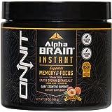ONNIT Alpha Brain Instant (Tub) - Premium Nootropic Brain Supplement - Focus, Concentration & Memory - Alpha GPC, L Theanine, Bacopa Monnieri, Huperzine A, Vitamin B6