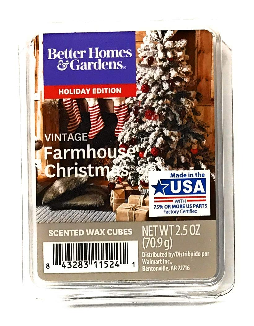 Better Homes & Gardens Scented Wax Cubes, 2019 Limited Edition (Vintage Farmhouse Christmas)