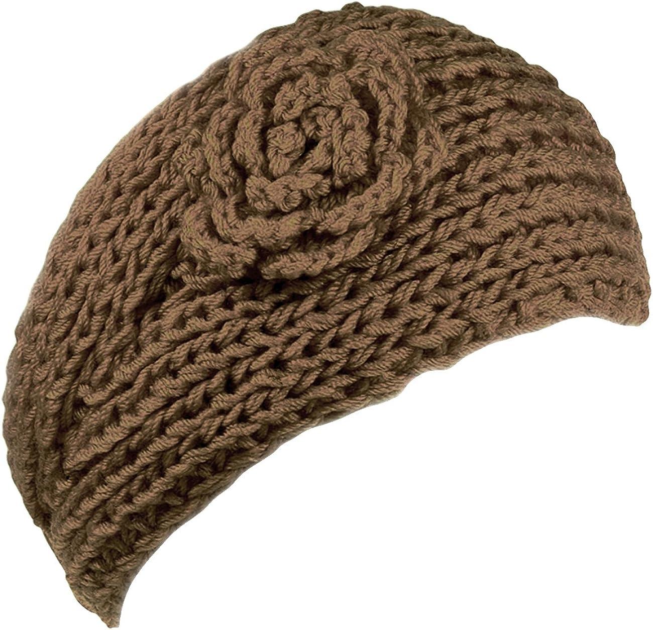 KMystic Knit Winter Headband with Flower